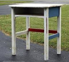modern painted furniture. School Desk Modern Vintage Gets Makeover Painted Furniture And Chair