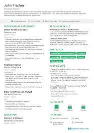 Analyst Senior Financial Analyst Resume Samples Velvet Jobs Resume