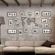 world map wall art metal