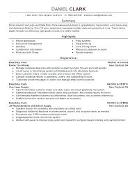Resume Summary Format – Resume Sample Source