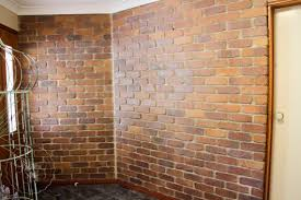 Brick wall ready for painting