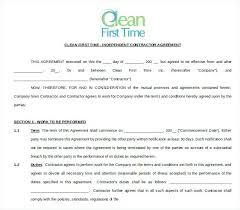 Cleaning Service Contract Template – Demonow.info