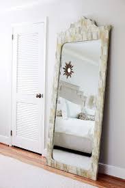 bone inlay full length bedroom mirror