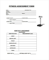 Fitness Assessment Form 100 Fitness Assessment Form Samples Free Sample Example Format 2