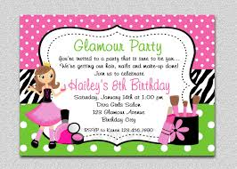 invitation for a party girl birthday spa invitation girl birthday