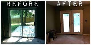 sliding replacing sliding glass door with french door as glass front door