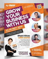 Free Download Attractive Business Conference Flyer Psd
