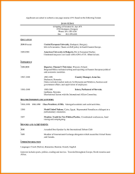 Part 131 Resume Template For High School Students