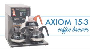 Not only does this unit produce copious amounts of coffee. Bunn Axiom 15 3 Coffee Brewer Youtube