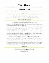 Veterinary Receptionist Resume Examples Templates Sample Cover