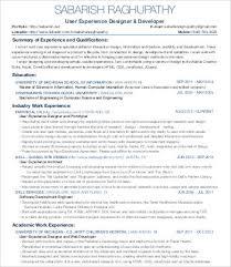 Ux Designer Resume Adorable Ux Designer Resume 28 Free Word PDF Documents Download Free