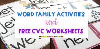 Get in some phonics practice with this rhyming words match up! 13 Free Cvc Worksheets And Word Family Activities Little Learning Corner