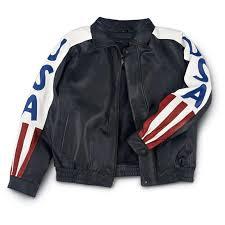 Interstate Leather Jacket Size Chart Interstate Leather Usa Leather Bomber Jacket 78247 At