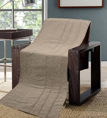 brown cotton solid 63x55 inch