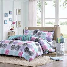 childrens comforter sets beautiful modern blue teal grey white purple pink girls 19
