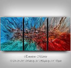 large modern wall art abstract painting purple wall art decor red large canvas art