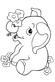 Cute Elephant Coloring Pages Elephants Awesome Baby With Additional