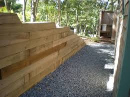 Small Picture Landscape timber retaining wall Meyer Landscapes