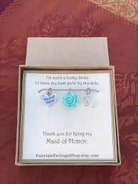 this elegant piece of jewelry will make a beautiful and sentimental gift that will best express your graude and friendship with your maid of honor