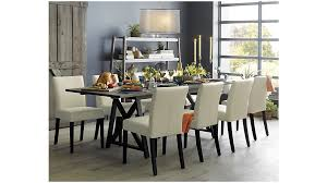 crate and barrel dining table in basque honey tables prepare 4