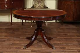48 round dining table with leaf round mahogany dining