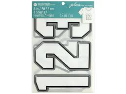 Create Your Own Iron On Design Ek Jolees Boutique Iron On Transfer 8 In Number White 1