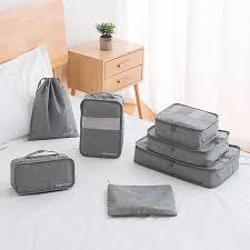 <b>7Pcs Pack</b> Luggage Organizer Travel <b>Compression</b> Storage Bags ...
