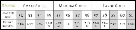 Helmet Size Chart Horse Ash Cycles