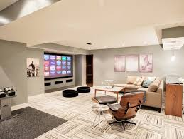 Designer Basements Fascinating Basement Flooring Ideas Freshome