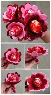 office valentine ideas. Flowers Made From Suckers Valentine Treat Office Ideas