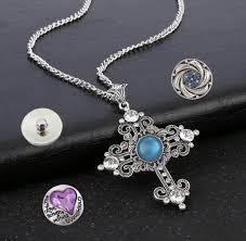 10pcs lot clear crystal cross pendant necklaces silver color women en s cross pendant necklaces