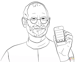 Small Picture Steve Jobs coloring page Free Printable Coloring Pages