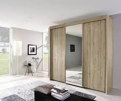 Rauch Imperial Sanremo Light Oak 4 Door Sliding Wardrobe With 2 Mirrors W350cm