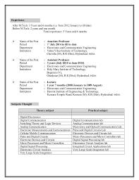 Useful Resume Sample Ece Student About Sample Ece Resume