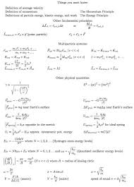 equations for the final