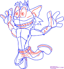 Crash Bandicoot Coloring Pages Coloring Pages For Free