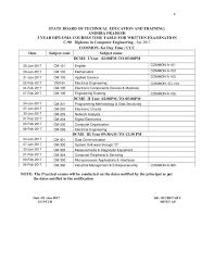 sbtet ap c diploma examination time table sbtet diploma updates sbtet ap c90 diploma examination time table