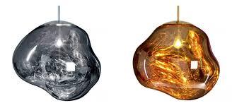 cropforblogtomdixon melt gold silver lava with his melt pendant lights tom dixon s