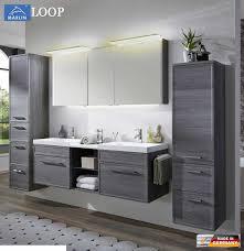 Marlin Loop Badmöbel Set 160 Cm Mit Led Spiegelschrank