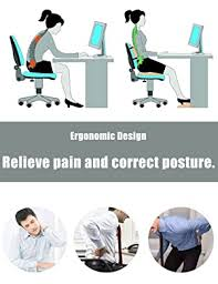 Lumbar Support <b>Coccyx Orthopedic Memory</b> Foam and Back Pillow ...