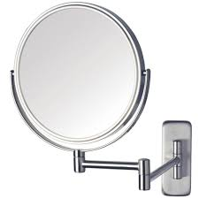 dia wall mounted mirror in nickel