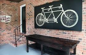 outdoor wall art bicycle