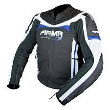 800points armr moto raiden leather jacket black blue white