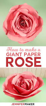 Giant Paper Flower Svg Giant Flower Spellbound Rose Every Petal Is Unique Jennifer Maker