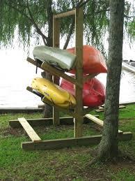 kayak rack outdoor diy wood top homemade
