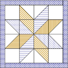 Big Star Quilt - just 28 pieces plus the border. Finishes at 42 ... & Big Star Quilt - just 28 pieces plus the border. Finishes at 42