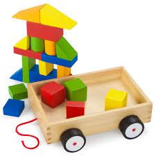 take along building block wagon