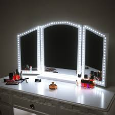 mirror lighting strips. Pangton Villa LED Vanity Mirror Lights Kit For Makeup Dressing Table Set 13ft Flexible Light Strip 6000K Daylight White With Dimmer And Power Lighting Strips
