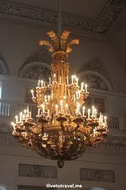 chandelier in the hermitage in st petersburg russia