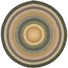 high tech braided round rug com safavieh collection brd308a hand woven blue and